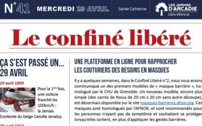 Une nouvelle semaine, un nouveau « Confiné Libéré » !