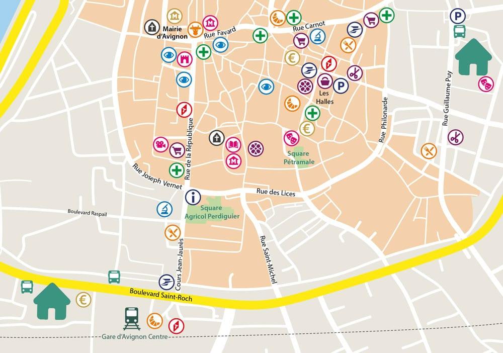 Plan Jardins d'Arcadie d'Avignon