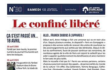 « Le Confiné Libéré » du jour vient de sortir ! Découvrez notre 3ème édition en ligne