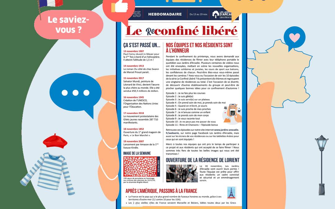 Une nouvelle édition du Confiné Libéré vient de sortir… À vos tablettes !