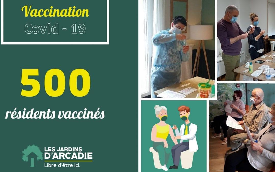 Les résidents des Jardins d'Arcadie peuvent se faire vacciner à domicile !
