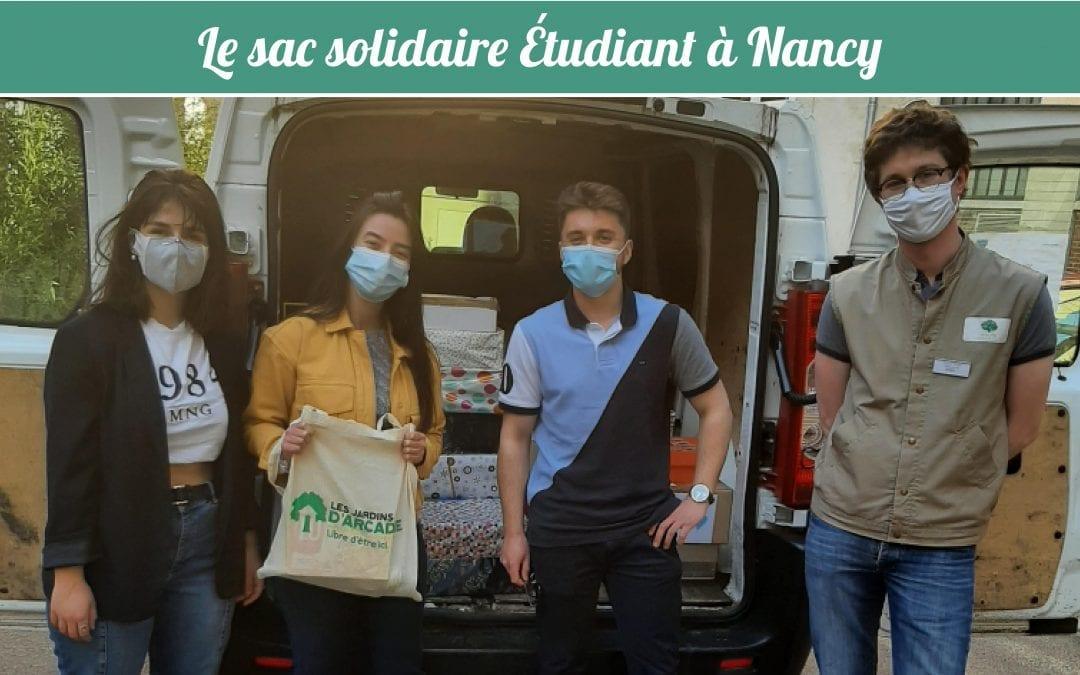Les Jardins d'Arcadie de Nancy s'associent à l'initiative « le sac solidaire étudiant ».