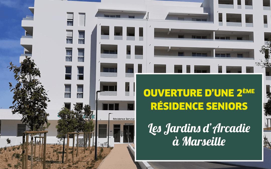 Les Jardins d'Arcadie ouvrent une seconde résidence à Marseille aujourd'hui !