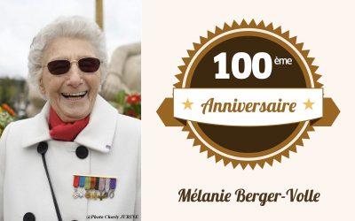 Mélanie Berger-Volle, ancienne résistante au parcours exceptionnel, fête ses 100 ans